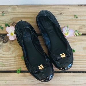 Tory Burch Patent Leather Flats!!